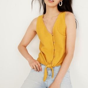 Madewell Texture & Thread Button-Front Tie Tank